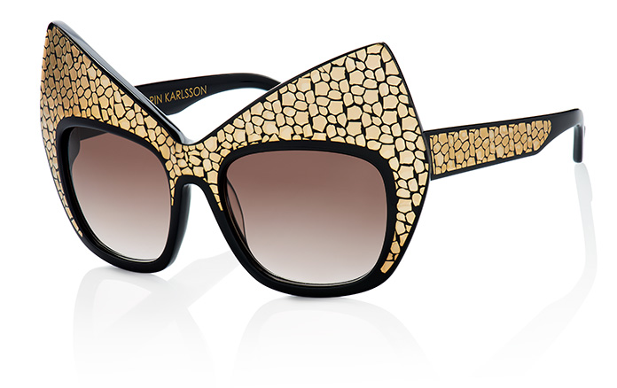 Cat frame golden layers Anna-Karin Karlsonn The House of Eyewear Optician Paris