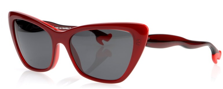 RED SUNGLASSES SHOES BOCCA BY FACE A FACE THE HOUSE OF EYEWEAR PARIS