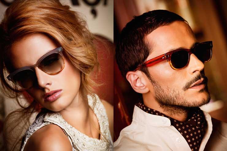 Paulino spectacles The House of Eyewear homme et femme bleu dégradé
