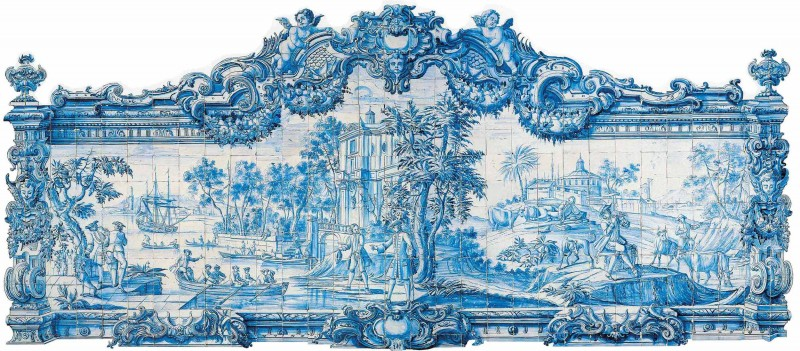 Azulejos portugais panneau marine The House of Eyewear Optician Paris