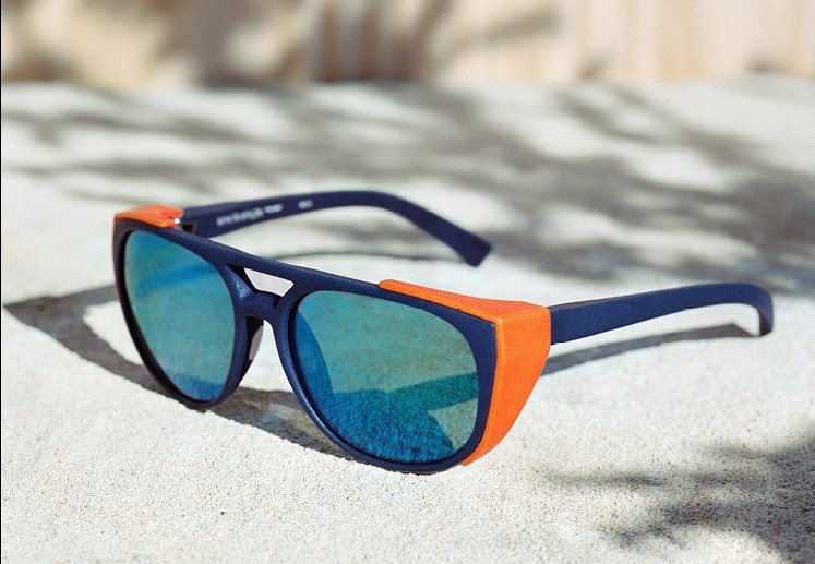 Lunettes de Soleil Mykita Mylon Imprimante 3D Oeillères Oranges Retour aux Origines The House of Eyewear Opticien Paris