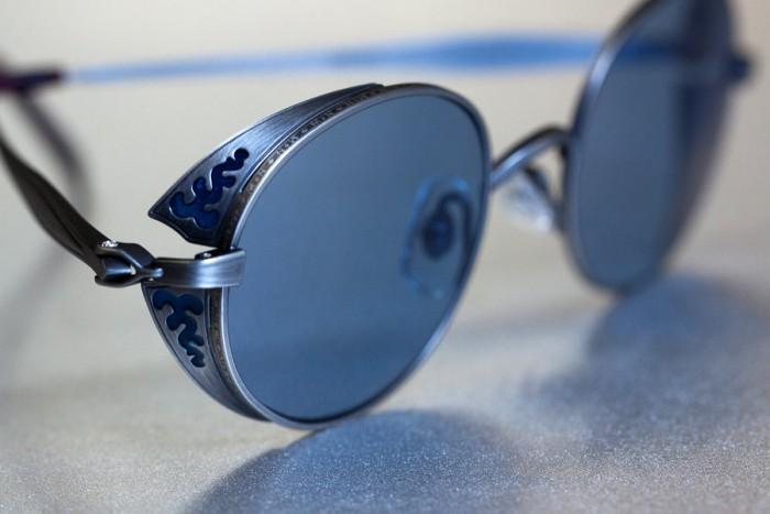 Lunettes de Soleil Matsuda Marque Japonaise Métal Gravé The House Of Eyewear Opticien Paris