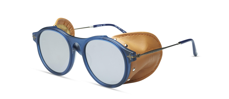 Lunettes de Soleil Matsuda Marque Japonaise Acétate Blue Oeillères en Cuir The House Of Eyewear Opticien Paris