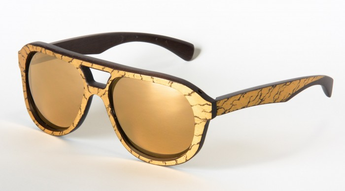Gold And Wood Luxurious Copa Sunglasses The House of Eyewear Optician Paris