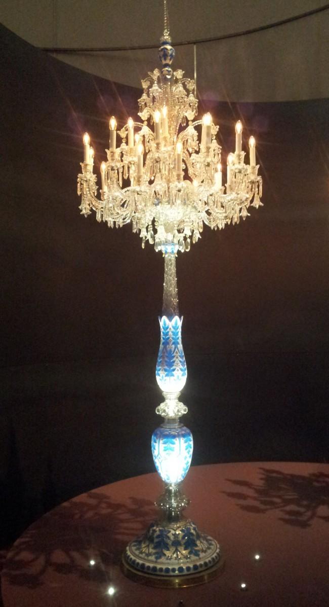Baccarat Crystal Candelabrum Exhibition Petit Palais Paris
