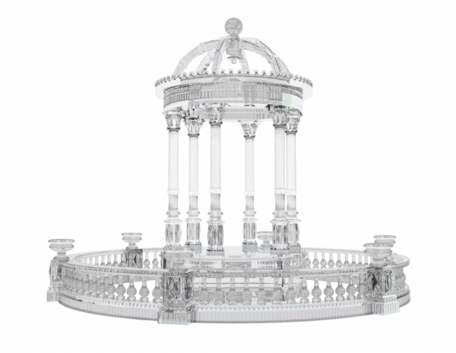Crystal Temple of Mercury by Baccarat recontrsuction at the Petit Palais Paris