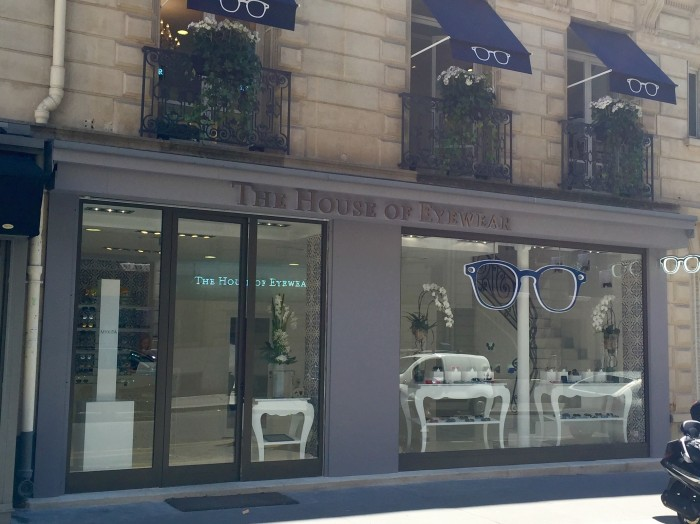 Facade Boutique The House of Eyewear Opticien Paris