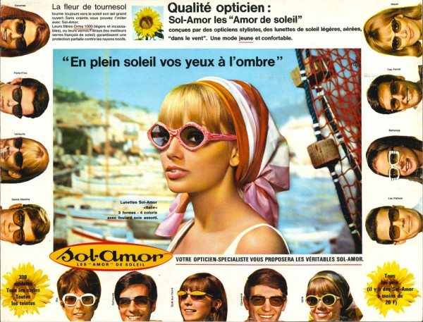 Sol-Amor, Lunette, Affiche Vintage, The House of Eyewear, Paris 2
