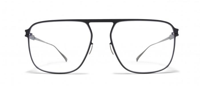 mykita-optique-pilote--rectangulaire-noir-face